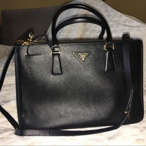 Prada Saffiano Lux Medium Tote Double Zip